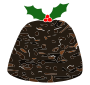Christmas Pudding Stencil