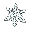 Many crystals make one snowflake. Picture