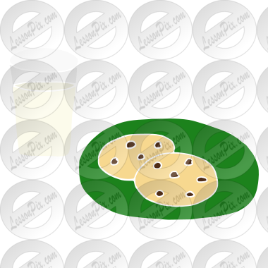 Milk and Cookies Stencil