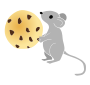 Mouse with a Cookie Stencil