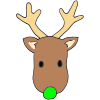 Green+Nose+Reindeer Picture