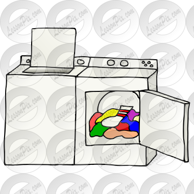Washer And Dryer Clipart washer and dryer picture for classroom / therapy use - great