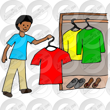 hang clothes picture for classroom therapy use great