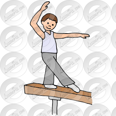 Balance Beam Picture For Classroom Therapy Use