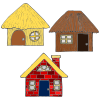 Three Pigs Houses Picture