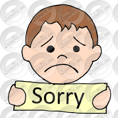 sorry picture for classroom therapy use great sorry clipart rh lessonpix com clipart sorry for your loss sorry clipart animated
