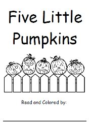 image relating to 5 Little Pumpkins Printable named Halloween Entertaining with 5 Minor Pumpkins