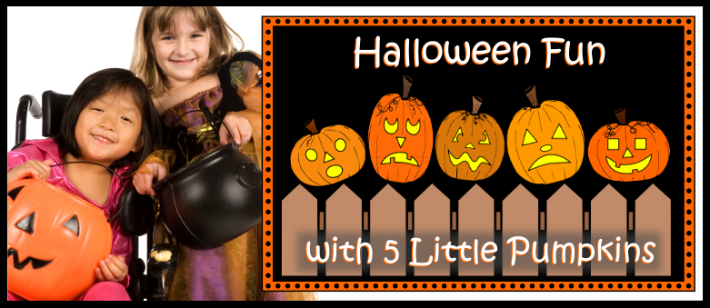 photo relating to Five Little Pumpkins Poem Printable titled Halloween Pleasurable with 5 Small Pumpkins