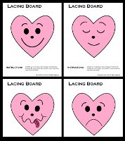 Heart Feelings Lacing Cards