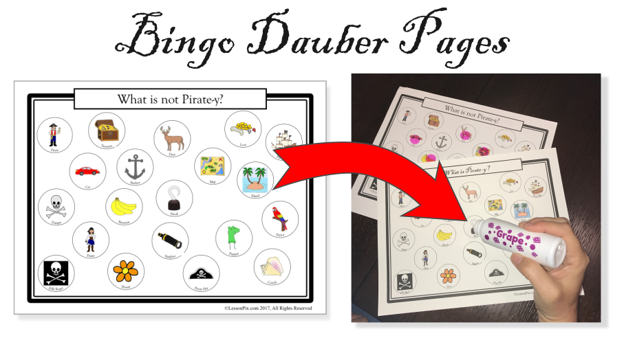 Bingo Dauber Pages