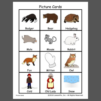 graphic regarding The Mitten Story Printable called Lesson System: The Mitten-Tale Figures and Collection