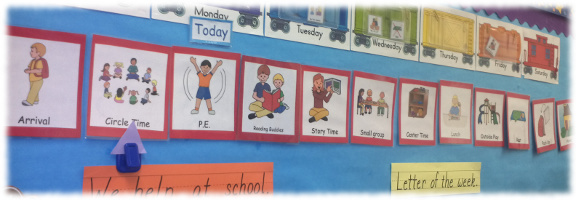 photo regarding Free Printable Visual Schedule for Preschool called Visible Schedules