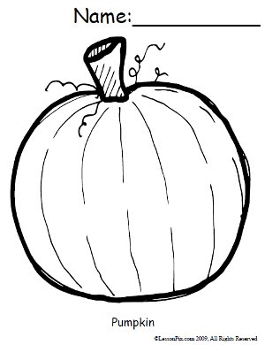 Small Pumpkin Coloring Pictures