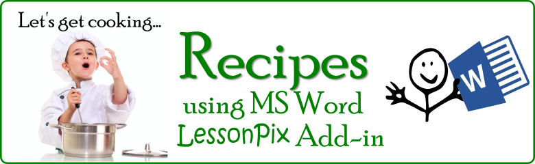 Recipe Template Microsoft Word from lessonpix.com