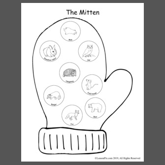 graphic relating to The Mitten Story Printable called Lesson System: The Mitten-Tale Figures and Series