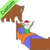 Bear+wakes+up+Santa. Picture