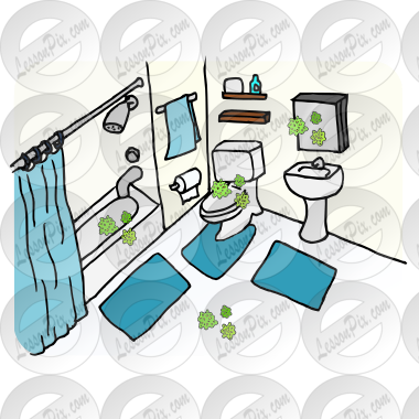 Germs In Bathroom Picture For Classroom Therapy Use Great Germs In Bathroom Clipart