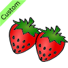 2 strawberries Picture