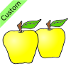 2 yellow apples Picture