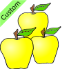 3 yellow apples Picture