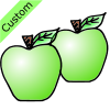 2 green apples Picture
