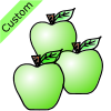 3 green apples Picture