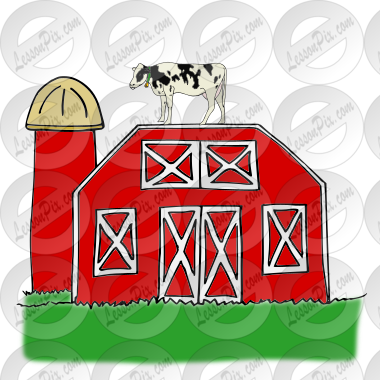 Cow On Barn Picture